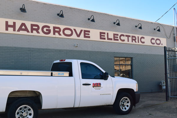 Hargrove Electric Co Truck and Building